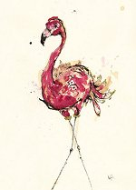 Flamingo<br> Anna Wright Large Card
