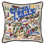 Great Lakes Pillow<br> by catstudio