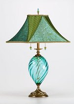 Jennifer - Teal<br> Kinzig Design Table Lamp