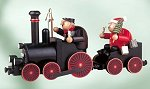 Steam Locomotive Smoker<br>with Engineer and Santa