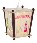 Silent Night Lantern<br> Nativity Motif