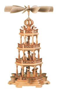 Müller 3 Tiered Natural<br> Candle Pyramid