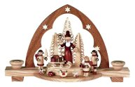 Santa Candle Arch<br> Tradional Müller Natural