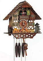 Schneider 8 Day Chalet Clock<br> Moving Bambi