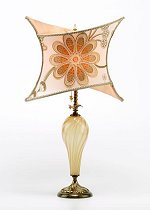 Megan - Carmel Glass<br> Kinzig Design Table Lamp