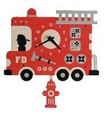 Fire Truck Pendulum Wall<br>Clock by Modern Moose