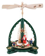 Glässer Santa Single Tiered<br> Candle Pyramid