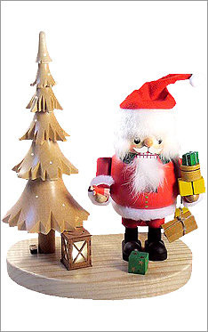 Santa & Lighted Tree<br>Richard Glässer Nutcracker