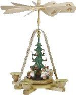 Glässer Angels & Tree<br>Single Tiered Pyramid