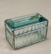 Beveled Reed Glass Card Box