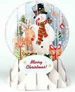 Snowman<br> 2014 Pop-Up Snow Globe Card
