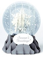 Holiday Snowflake<br> 2014 Pop-Up Snow Globe Card
