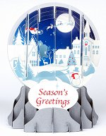 Village Silhouette<br> 2014 Pop-Up Snow Globe Card