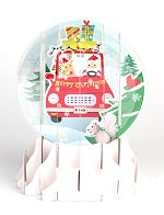 Santa's Shopping Spree<br>2015 Pop-Up Snow Globe