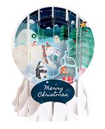 Arctic Animal Christmas<br>2016 Pop-Up Snow Globe
