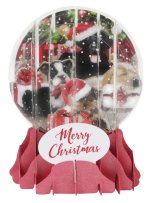 Christmas Puppies<br>2019 Pop-Up Snow Globe Card