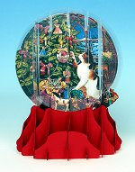 Christmas Frolic - Large<br>Pop-up Snow Globe Card