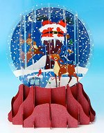 Stuck! - Large<br>Pop-Up Snow Globe Card