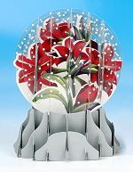 Amaryllis - Pop-up Snow Globe Card