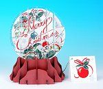 Merry Christmas! - Large<br> 2013 Pop-Up Snow Glob