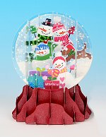 Snowman Family<br> 2013 Pop-Up Snow Globe Card