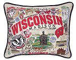 Wisconsin Badgers Madison<br>PIllow by catstudio