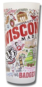 U of Wisconsin Badgers<br>Glass by catstudio