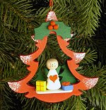 Angel in Red Tree<br>Ulbricht Ornament