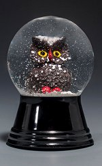 Woodlands Owl - Small<br>Vienna Snow Globe