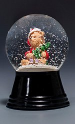 Santa Teddy - Small<br>Vienna Snow Globe