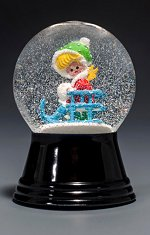 Girl on Sled - Small<br>Vienna Snow Globe