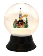 Christmas Chapel<br> Vienna Snowglobe - 120mm