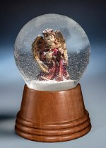Angel with Golden Wings<br> Perzy Snow Globe