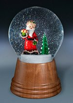 Santa with Tree<br>Viennese Snow Globe