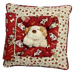 Good Dogs<br>Peek-A-Boo Pillow - Large