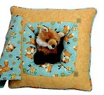 Playful Fox<br>13 Inch Peek-A-Boo Pillow