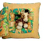 Jungle Babies Giraffe<br>13 Inch Peek-A-Boo Pillow