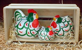Green Hamburg<br> New Zealand Happy Hens
