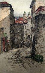 Linz Hofgasse - Austria by Josef Eidenberger