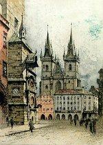 Tyn Church in Prague<br>by Josef Eidenberger