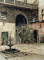 New Orleans Courtyard USA<br>by Josef Eidenberger