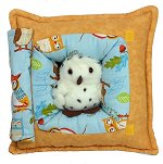Owls on Branch<br>Peek-A-Boo Pillow - Medium