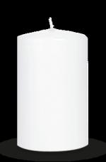 Metric Pillar Candles<br>60/120 mm White Medium