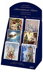 These Advent Calendar Cards by Korsch Verlag of Germany are available in a variety of images and are actual miniature Advent Calendars as well as greeting cards!