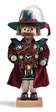 This handsome Black Forest Clockmaker nutcracker was created in the workshops of Christian Ulbricht