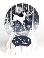 Reindeer Silhouette is a 2015 Pop-Up Snow Globe card.