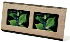 Finkbeiner hardwood photo frames with actual tree bark edges