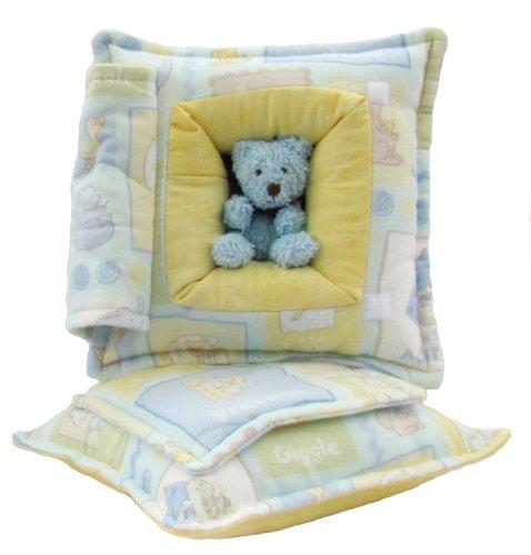 Baby Boy - Blue Bear<br>Peek-A-Boo Pillow - Small
