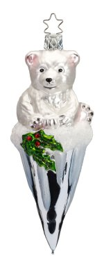 Frosty Bear 2018 is the sixth and final ornament in this series of dated annual ornaments from Inge-glas® of Germany